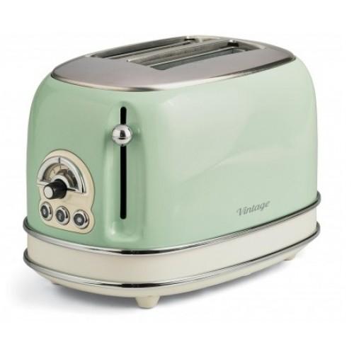 Prajitor de paine Ariete, 0155 Vintage, 810 W, 2 Felii, verde [0]