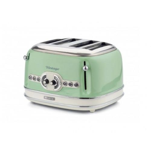Prajitor de paine Ariete, 0156 Vintage, 1600 W, 4 Felii, crem/green [0]