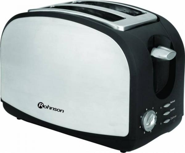 Prajitor paine Rohnson R207, 900W, functie dezghetare, 8 trepte, Inox 0