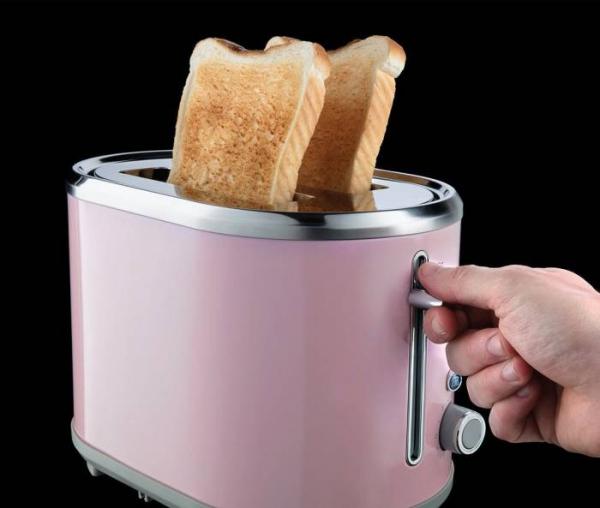 Prajitor de paine Russell Hobbs Bubble Soft Pink 25081-56, 930 W, 2 felii, 6 setari, Decongelare, Roz 1