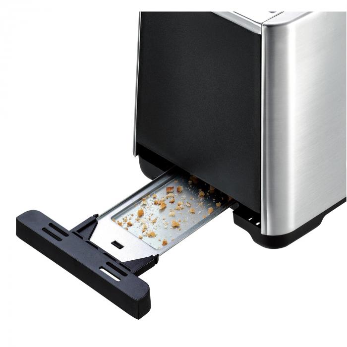Prajitor de paine Tefal TT420D30, 900W, Functie de dezghetare si reincalzire, 7 niveluri, Inox/Negru [3]