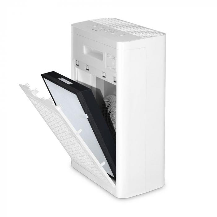 Purificator de aer Inventor Natura, filtru Ionizator HEPA Carbune activ, suprafata acoperita 20 mp, timer, Sleep, alb 4