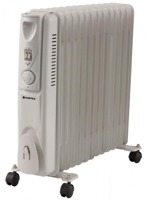 Radiator VORTEX VO4222 2.500 W 3 trepte putere 13 Elementi Alb 0