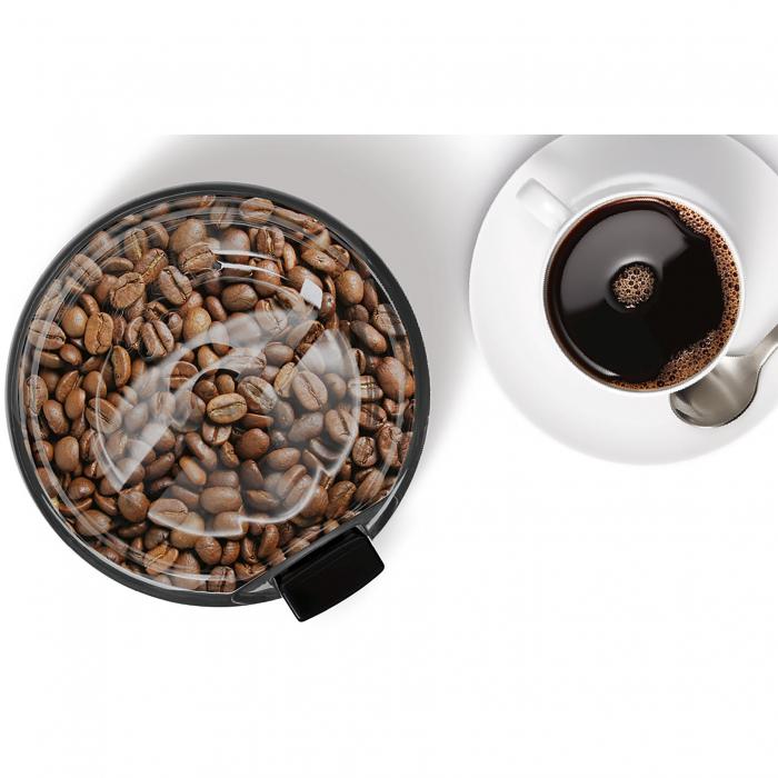 Rasnita de cafea Bosch TSM6A013B, 180 W, 75 g, cutit otel inoxidabil, Negru 4