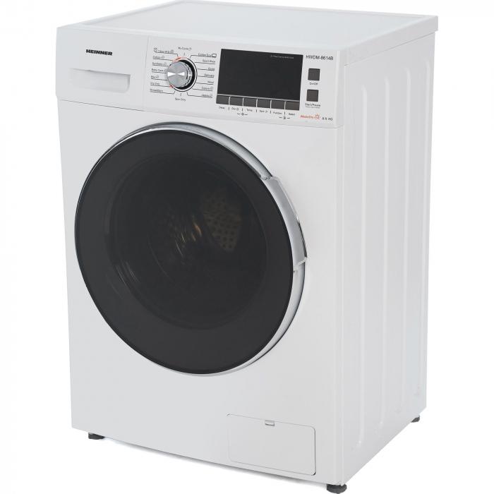 Masina de spalat rufe cu uscator Heinner HWDM-8614B, Spalare 8 kg, Uscare 6 kg 1400 RPM, Clasa B, Display LCD, 60 cm, Alb 3