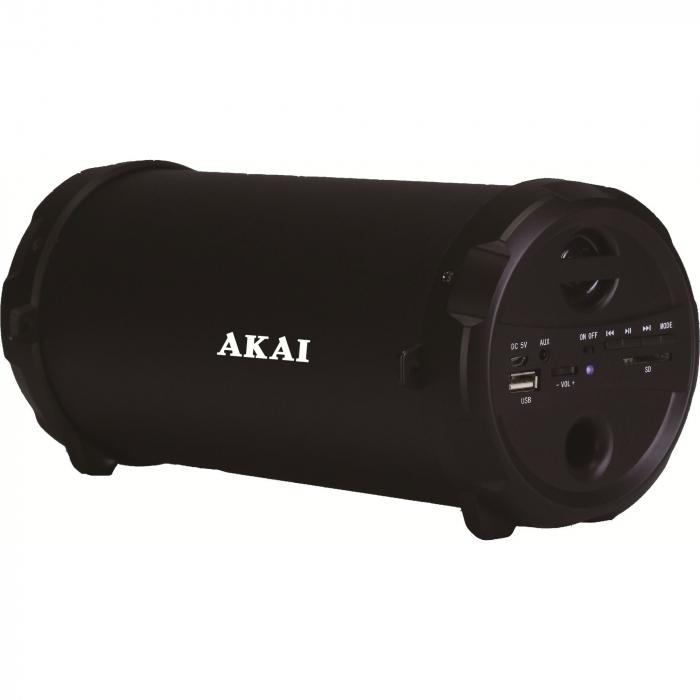 Boxa portabila Akai ABTS-12C, radio FM, karaoke, negru 0