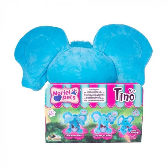 Jucarie de plus Noriel Elefant Cucu Bau - Tino Boo Elefantel 3