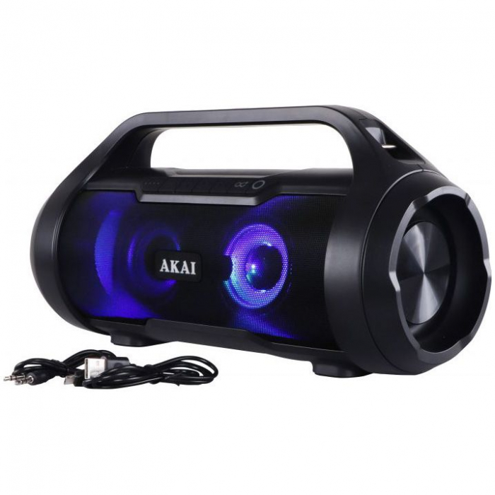 Boxa Portabila, Bluetooth, rezistenta la apa AKAI ABTS-50 , Radio FM , USB ,SD card 4