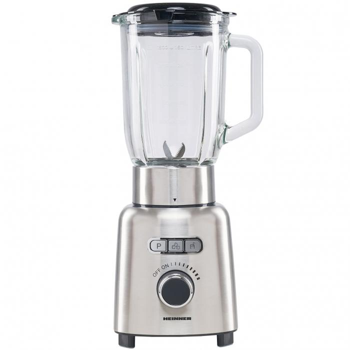 Blender Heinner HBL-ICE1000XMC, 1000 W, 1.5 l, Viteza variabila, Pulse, Zdrobire gheata, Bol sticla, Inox 0