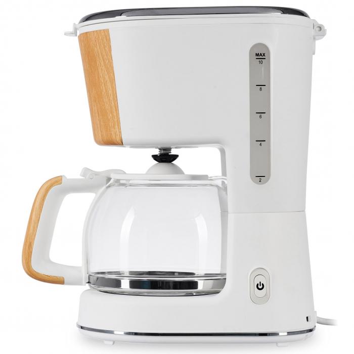 Cafetiera Heinner HCM-WH900BB, 900 W, 1.25 L, filtru detasabil, anti-picurare, oprire automata, Alb 2