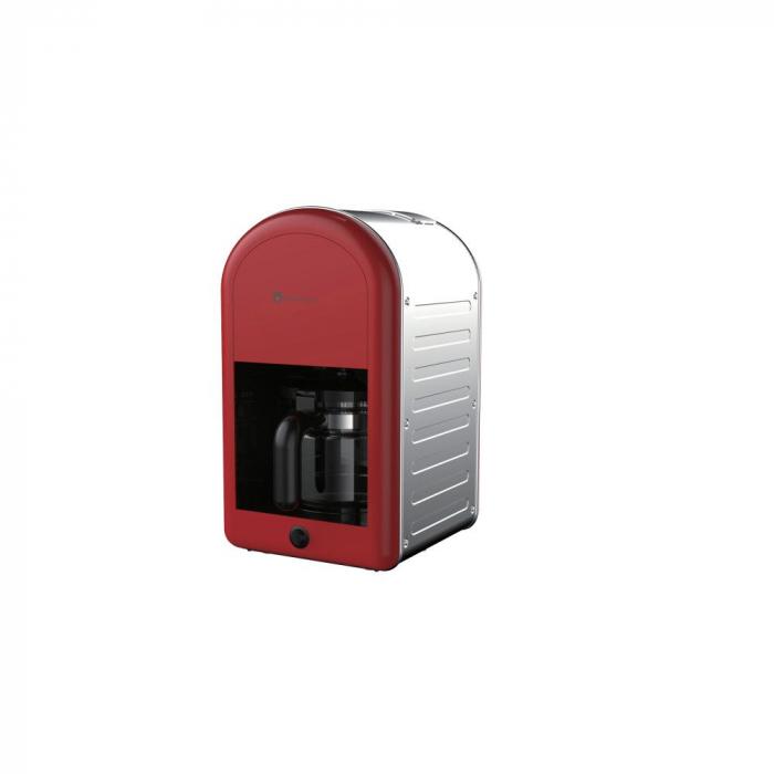 Filtru de cafea Retro 70 Studio Casa , 1.25 l, 1000 W, Rosu / Inox 0