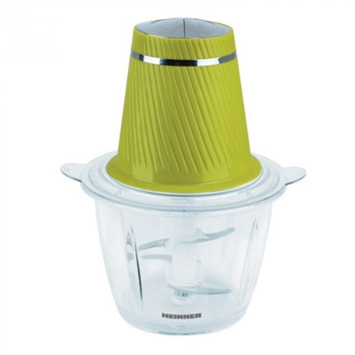 Tocator Charm Heinner HMC-300GR, 300 W, 2 cutite inox, bol de sticla, 2 viteze, Verde 0