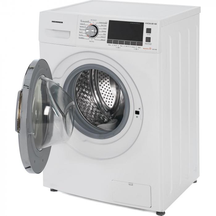 Masina de spalat rufe cu uscator Heinner HWDM-8614B, Spalare 8 kg, Uscare 6 kg 1400 RPM, Clasa B, Display LCD, 60 cm, Alb 2