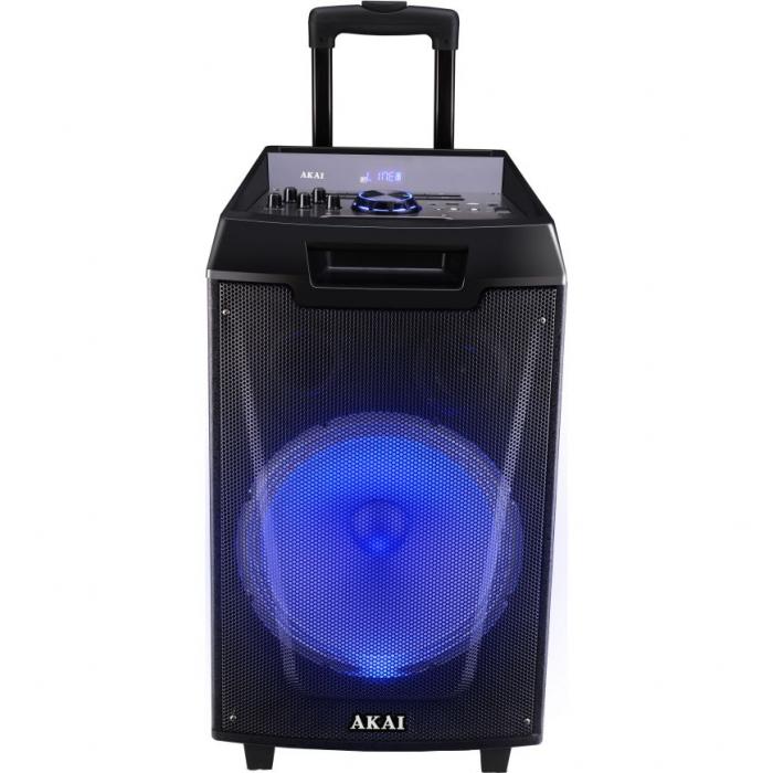 Boxa portabila Akai ABTS-AW12 cu BT, lumini disco, functie inregistrare, microfon 0