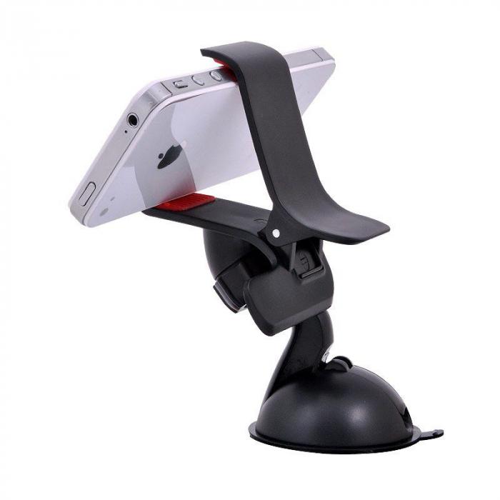 Suport auto Procell Clips 360 pentru telefoane si tablete, Negru 2