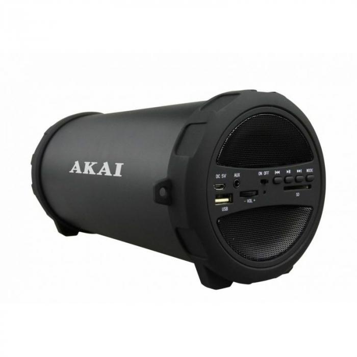 Boxa portabila Akai ABTS-12C, radio FM, karaoke, negru 1