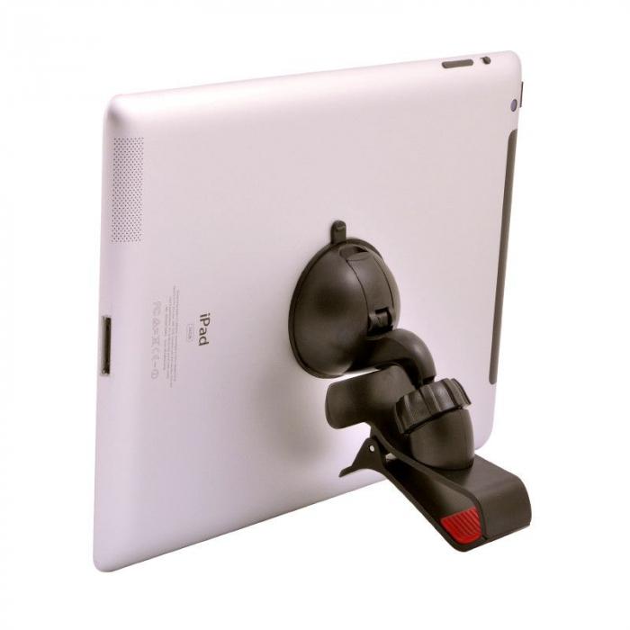 Suport auto Procell Clips 360 pentru telefoane si tablete, Negru 3