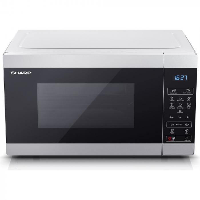 Cuptor cu microunde Sharp YCMS51ES, 25L, 900W, Gril 1000W, Digital, Argintiu 1