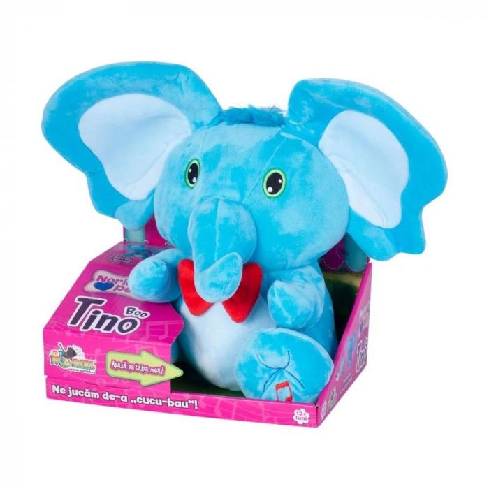 Jucarie de plus Noriel Elefant Cucu Bau - Tino Boo Elefantel 2
