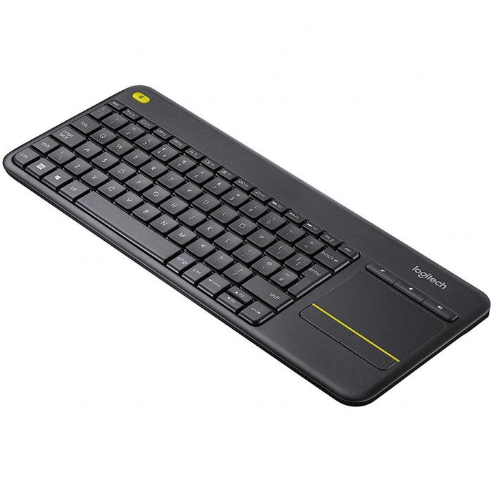 Tastatura Wireless Logitech K400 Plus Dark, Touchpad, USB, Black 1