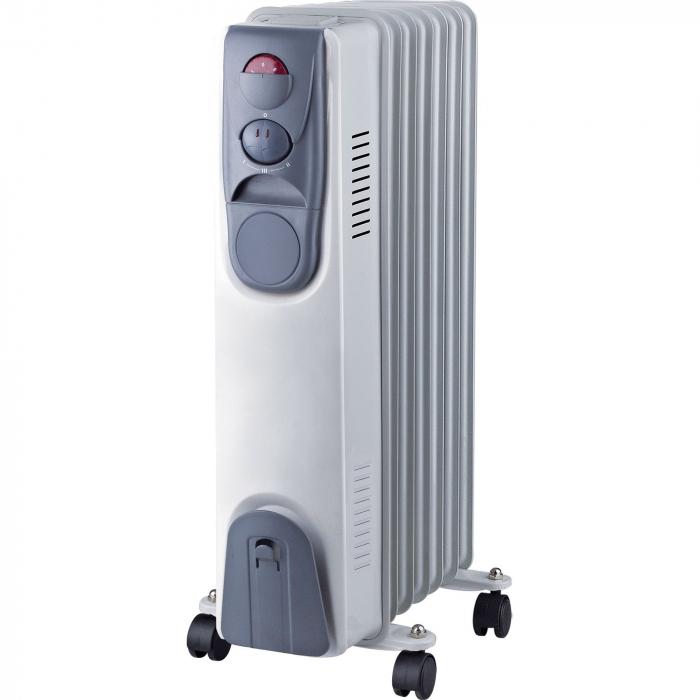 Calorifer electric Vortex YLA067, 1500 W, 7 elementi, 3 trepte de putere, Termostat, Indicator luminos, Protectie supra-incalzire 0