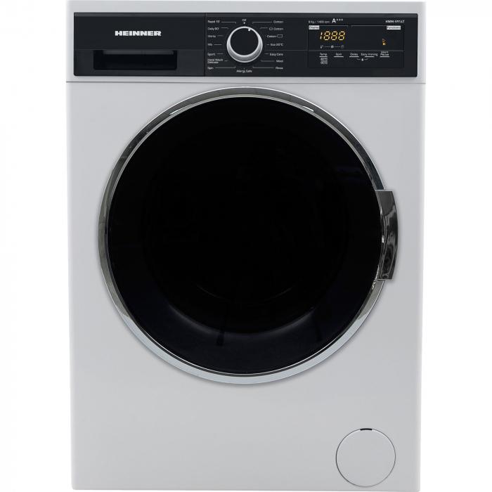 Masina de spalat rufe Heinner HWM-V914T, 9 Kg, 1400 RPM, Clasa A+++, Display Digital, Touch control, Sistem Eco Logic, Alb 0