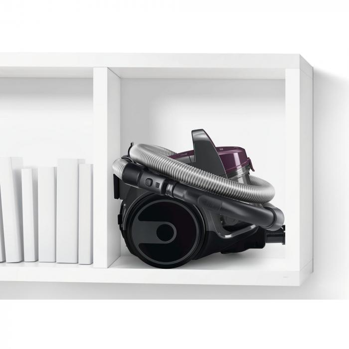 Aspirator fara sac Bosch 3A BGC05AAA1, 700W, 1.5 l, Filtru igienic PureAir, Easy Clean, Negru/Mov [6]