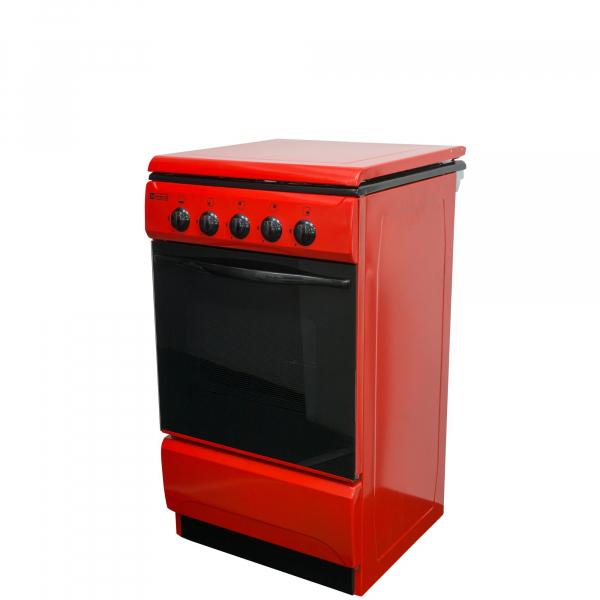 Aragaz Metalica 1685 F4 ROSU, 4 Arzatoare, Alimentare Gaz, Capacitate cuptor 46 l, Rosu [0]