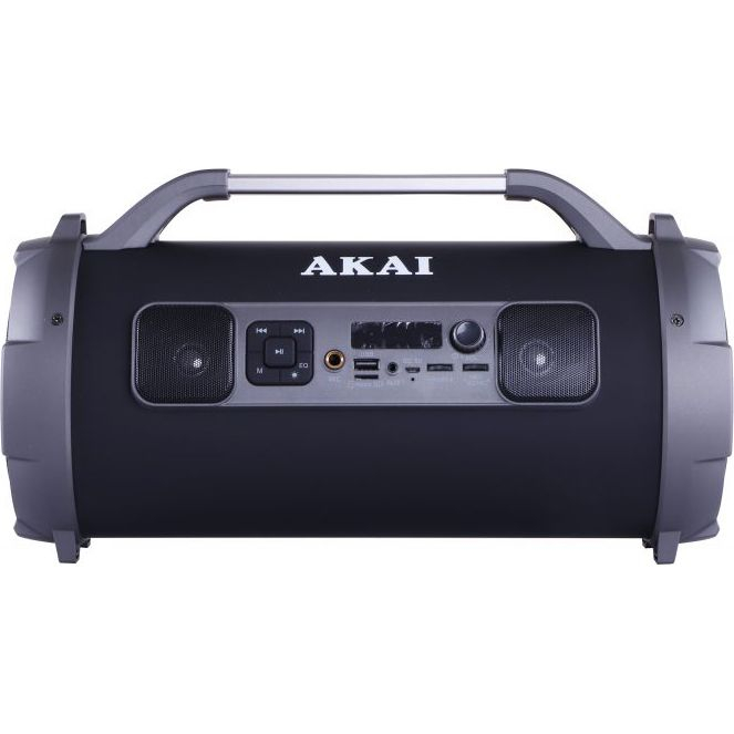 Boxa portabila cu trei difuzoare bazooka AKAI ABTS-13K cu BT , USB, Micro SD card , FM Radio , Aux-in 3.5mm ,Functie Karaoke ,Baterie reincarcabila, Lumini Led , Maner aluminiu 0