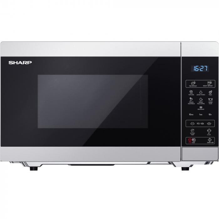 Cuptor cu microunde Sharp YCMS51ES, 25L, 900W, Gril 1000W, Digital, Argintiu 0