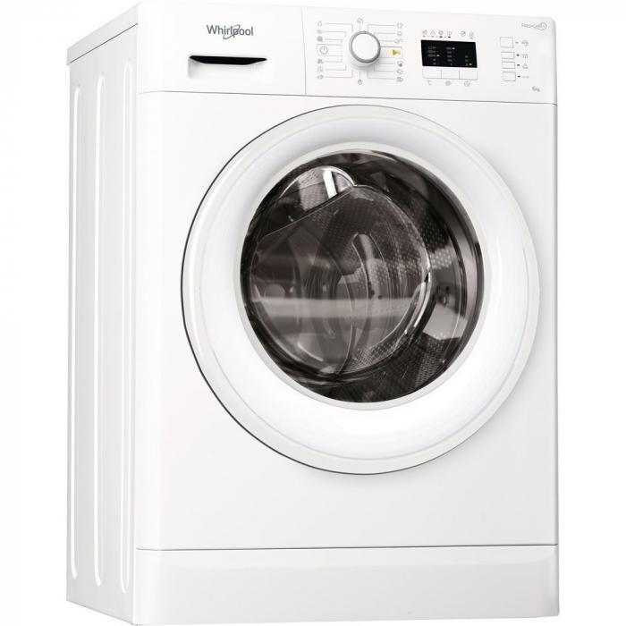 Masina de spalat rufe Slim Whirlpool FreshCare+ FWSL61052W EU, 6 kg, 1000 rpm, Clasa A++, Alb 0