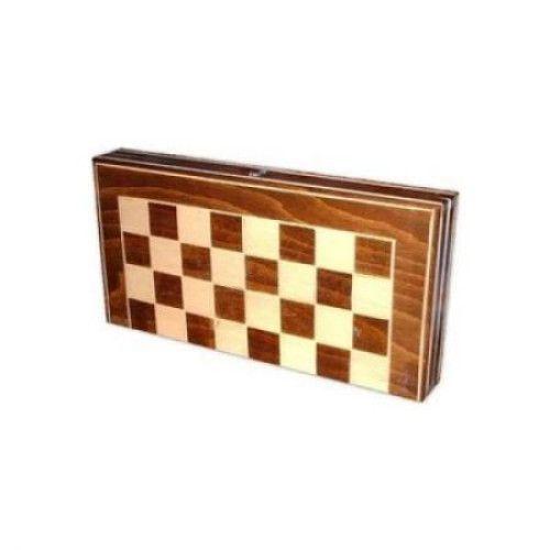 Joc de table si sah din lemn 26 x 26 0