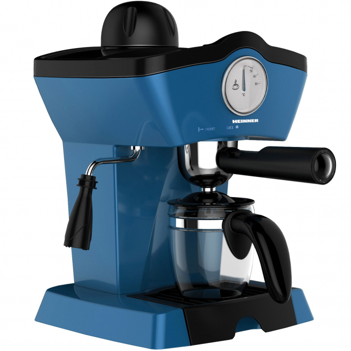 Espressor manual Heinner Charm HEM-200BL, 800W, 250ml, 3.5 bar, Albastru 0