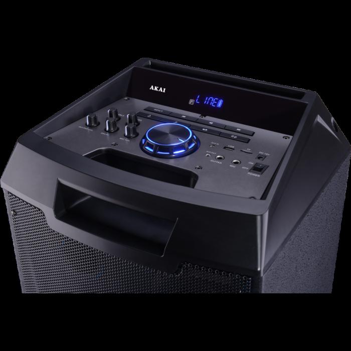 Boxa portabila Akai ABTS-AW12 cu BT, lumini disco, functie inregistrare, microfon 2