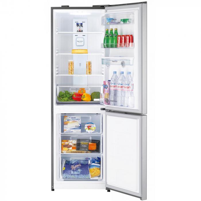 Combina frigorifica Daewoo RN-307RDQM, 305 l, Clasa A+, No Frost, Display, Dispenser apa, H 187 cm, Silver [3]