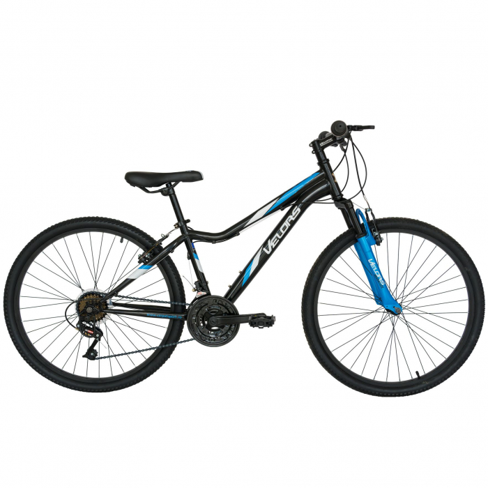 "Bicicleta de munte 26"" VELORS V2651A, cadru hardtail otel, sistem de franare V-Brake, 18 viteze, culoare negru/albastru"
