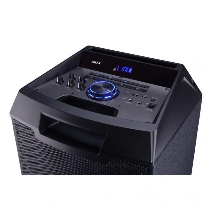 Boxa portabila Akai ABTS-AW122 cu BT, lumini disco, functie inregistrare, microfon 2