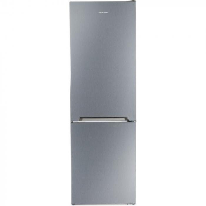 Combina frigorifica Heinner HC-V336XA++, 336 l, Clasa A++, H 186 cm, Tehnologie Less Frost, Control mecanic cu termostat ajustabil, Argintiu [0]
