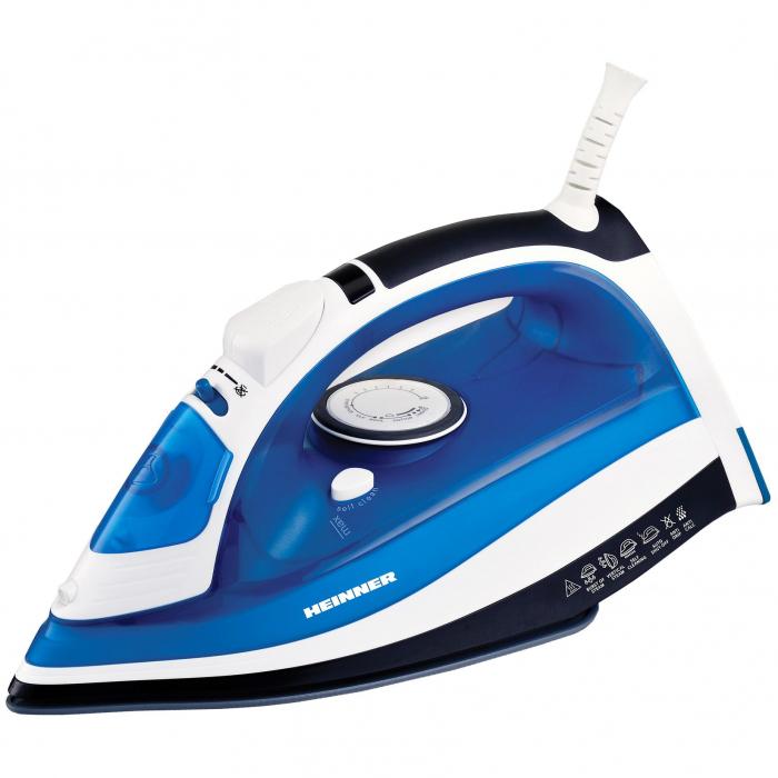 Fier de calcat Heinner Azuritte HSI-2400AZ, 2400 W, Talpa ceramica, Auto-oprire, Albastru 0