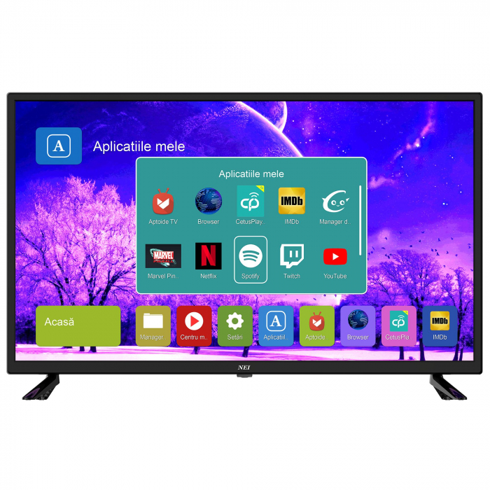 Televizor LED Smart NEI, 80cm, 32NE4505, HD , Android, Wi-Fi, Clasa A+, Negru 0