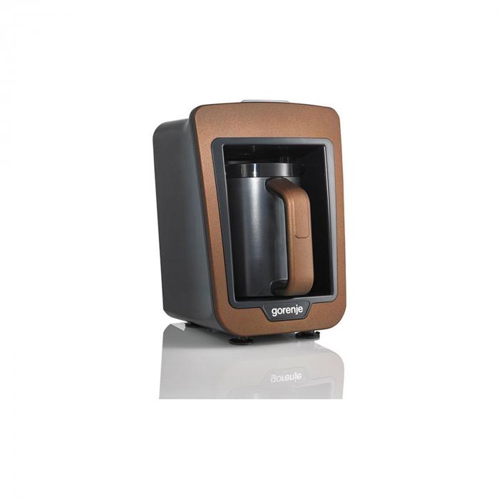 Aparat pentru preparat cafea turceasca Gorenje ATCM730T, 730W, 270 ml, Negru/Maro 2