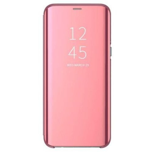 Husa Huawei Y6 2019 / Y6 Prime 2019, Clear View Flip Mirror Stand, Roz/Pink 0