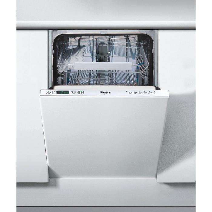 Masina de spalat vase incorporabila Whirlpool ADG 301, 10 seturi, 6 programe, Clasa A+, LED, Optiune programare intarziata, 45 cm
