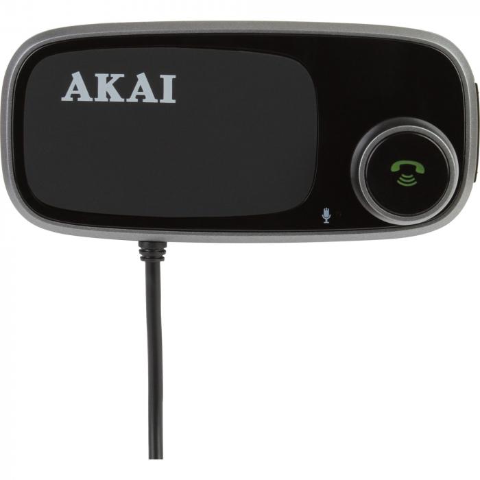 Modulator FM Akai FMT-16BT cu suport magnetic pentru telefon, bluetooth, microSD, 2 x USB 0