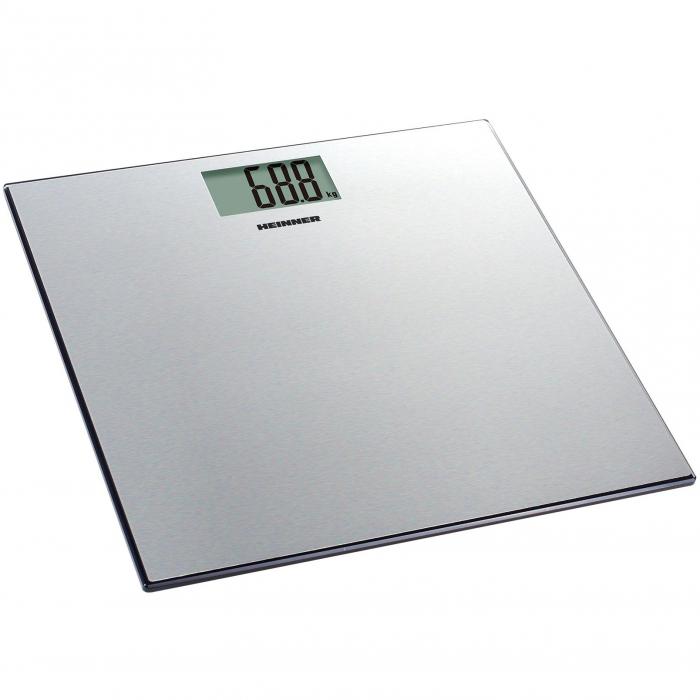 Cantar de persoane Heinner HBS-180SS, 180kg, platforma din inox, 30 x 30 cm, display lcd, Inox 0