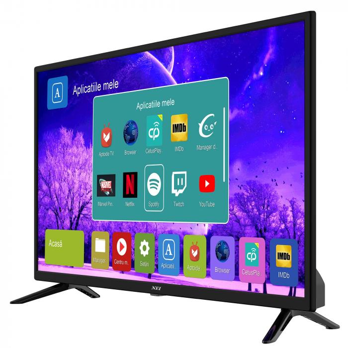 Televizor LED Smart NEI, 80cm, 32NE4505, HD , Android, Wi-Fi, Clasa A+, Negru 1