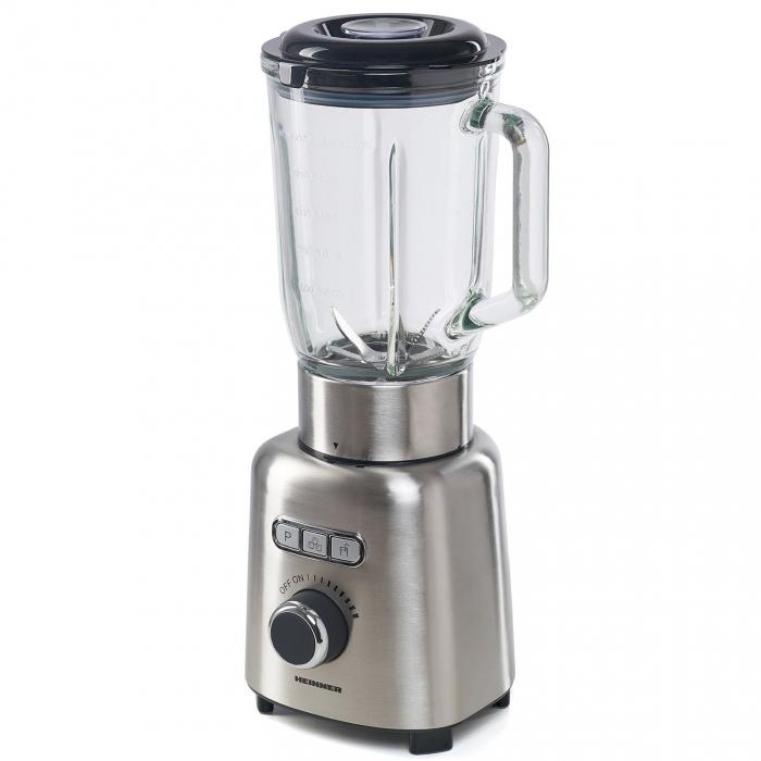 Blender Heinner HBL-ICE1000XMC, 1000 W, 1.5 l, Viteza variabila, Pulse, Zdrobire gheata, Bol sticla, Inox 1
