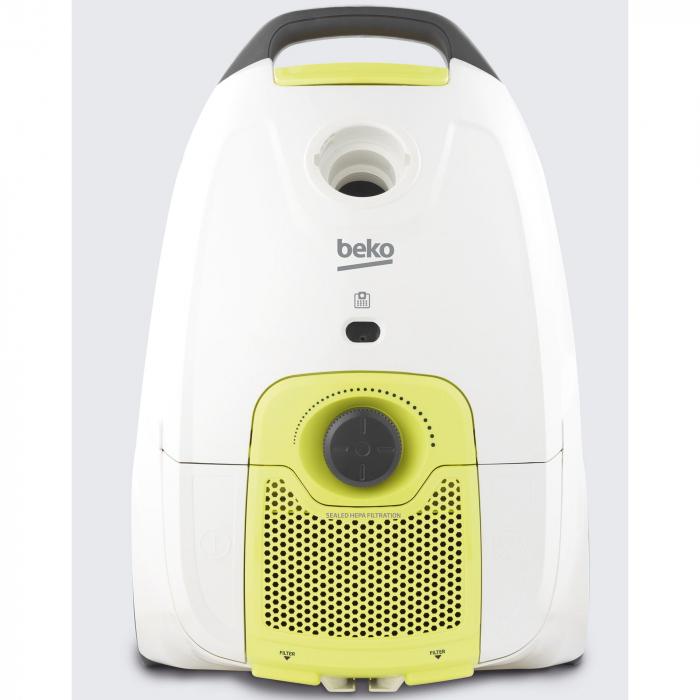 Aspirator cu sac Beko VCC50701AW, 800 W, 3.2 L, filtru Hepa, Alb [1]