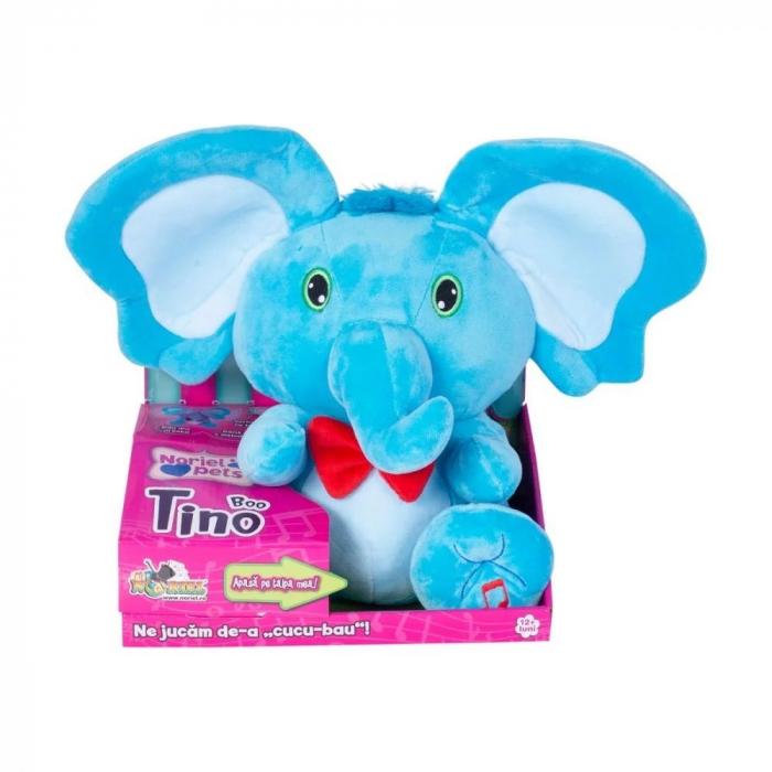 Jucarie de plus Noriel Elefant Cucu Bau - Tino Boo Elefantel 0