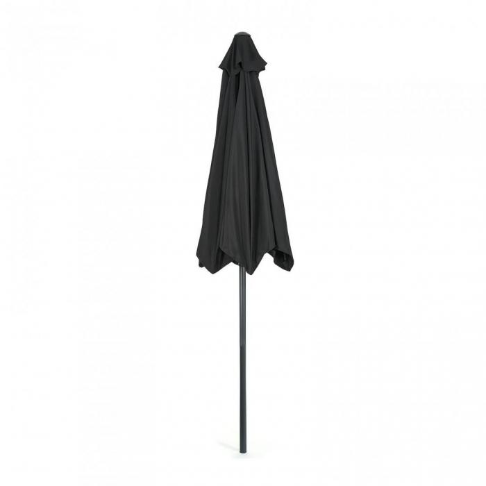 Umbrela soare / gradina, Heinner, LFUD001, rotunda, mecanizm rabatare, 2.4 m, negru 1